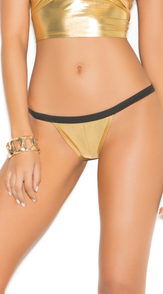 Metallic Ruched Back Panty