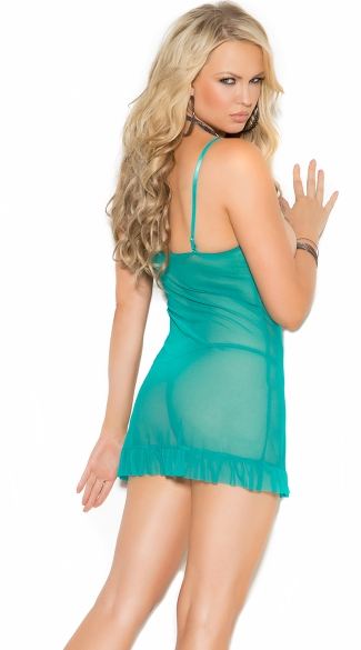 Plus Size Sultry Jade Cupless Chemise