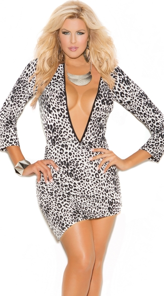 Plus Size Wild Nights Asymmetrical Mini Dress