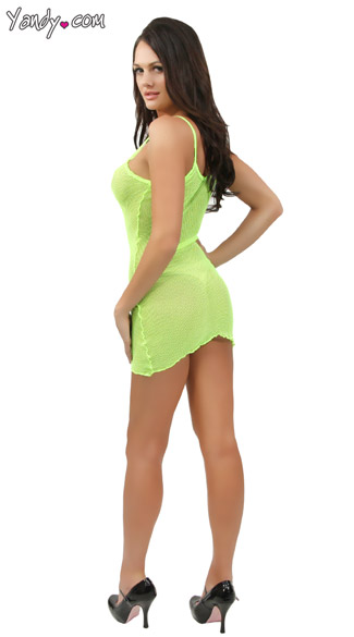 Neon Fishnet Mini Dress
