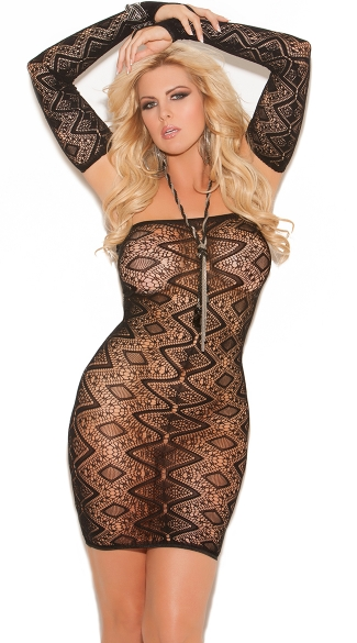 Plus Size Diamond Chemise and Gloves
