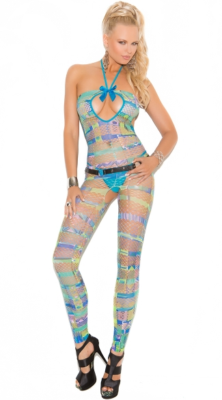 Neon and Net Bodystocking