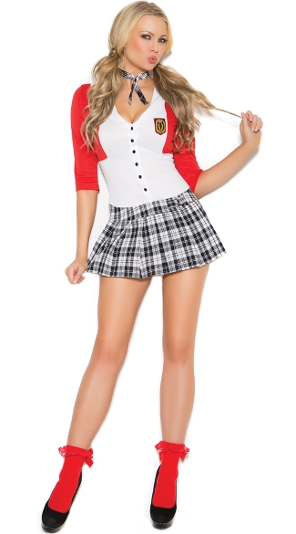 Dean List Diva Costume, Sexy School Girl Costume, Sexy School Girl Outfit