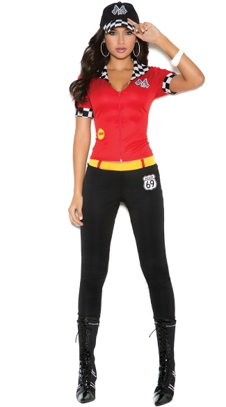 High Octane Honey Costume, Racing Girl Costume,  Route 69 Race Girl Costume