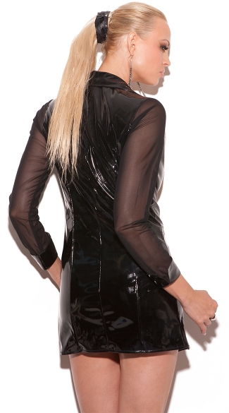 Matrix Vinyl Long Sleeve Jacket