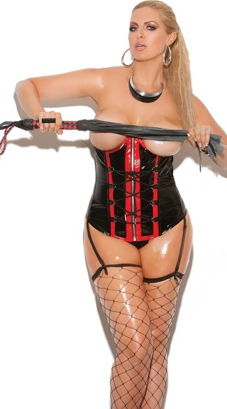 from Paxton plus size topless corset