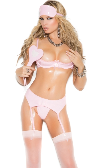 Vinyl Pink Heart Paddle, Paddle Lingerie Accessory, Heart Shaped Bedroom Whip
