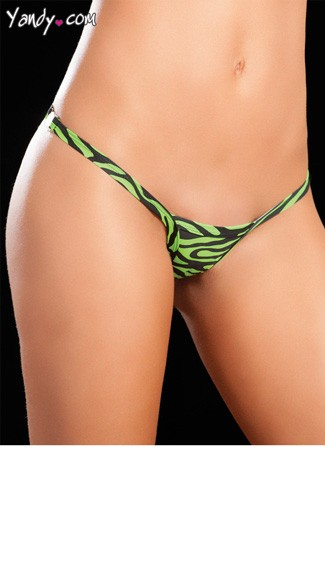 Animal Print Clip G-String