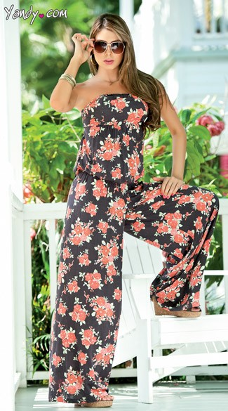 Sexy Casual Floral Print Romper, Adult Rompers, Floral Rompers