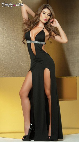 Long Low Cut Gown