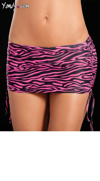 Adjustable Animal Print Skirt
