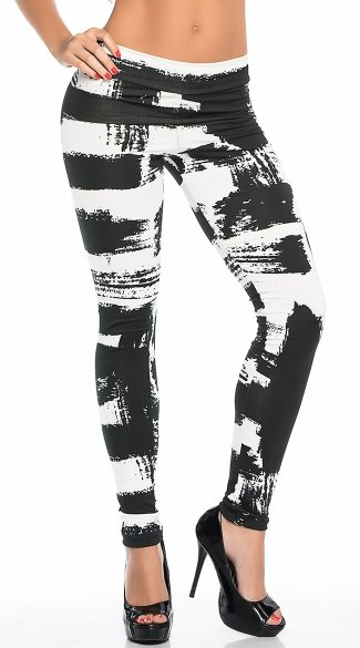 Opaque Paint Strokes Leggings