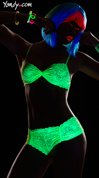 Glowing Desire Flirty Lace Top and Panty