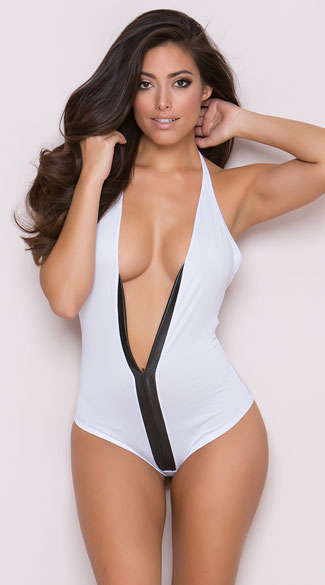 Low Cut Romper, Low Cut Lingerie, Romper Bodysuit