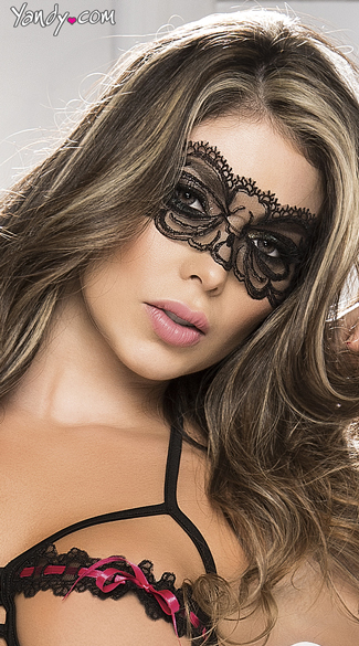 Scalloped Lace Eye Mask