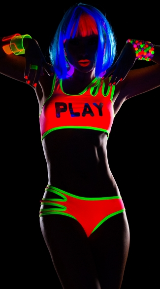 Play Neon Crop Top and Panty