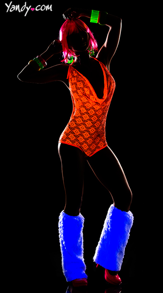 Printed Fishnet Glow Bodysuit