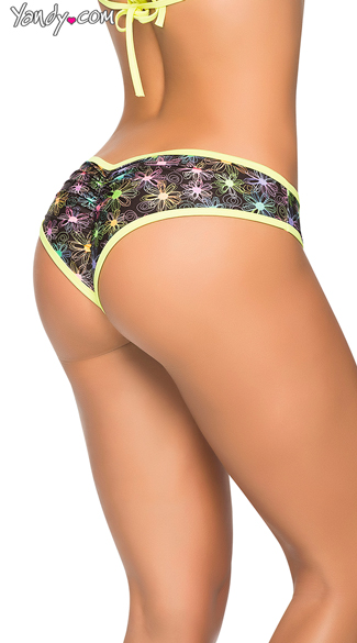 Multicolor Cheeky Scrunch Back Panty