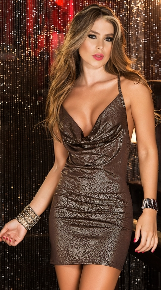 Metallic Animal Club Dress