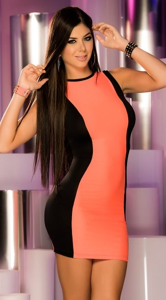Reversible Neon Mini Dress, Black Light Mini Dress