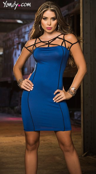 Sexy Socialite Dress, Seductive Open Back Dresses, Curve Hugging Dresses