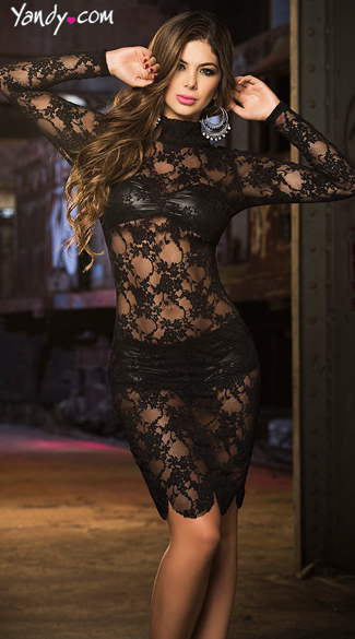 Racy Lace Dress Set