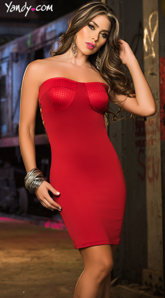 Strapless and Strappy Mini Dress, Open Strappy Back Dress