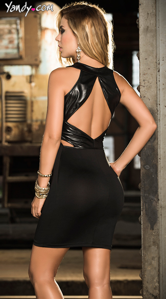 Flirty Open Back Dress
