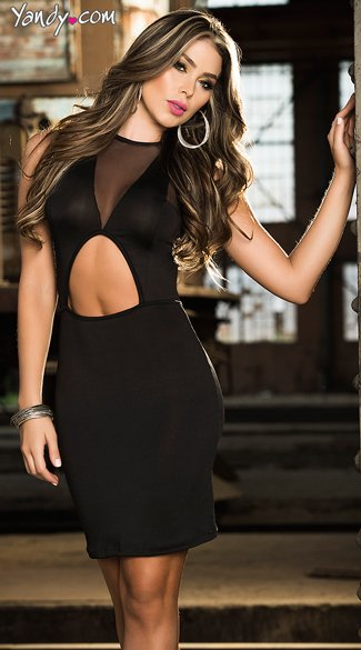 Wild Nights Cut Out Club Dress, Dress with Center Cut Out