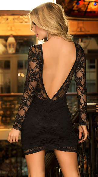 Luxurious Lace Long Sleeve Dress