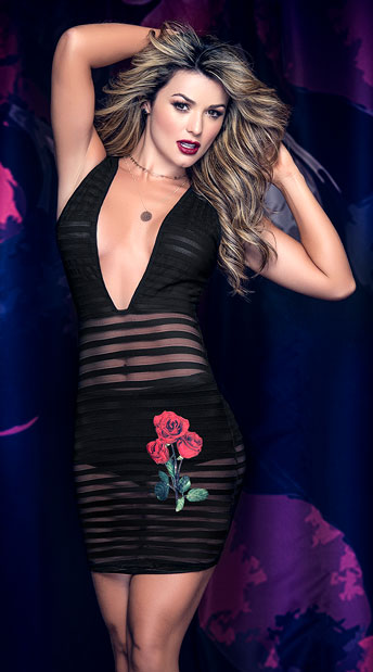 Ribbed Rose Club Dress, two piece dress - Yandy.com