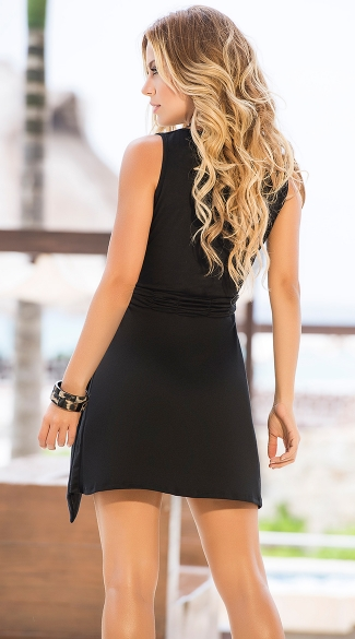 Flirty Summer Dress with Waist Tie