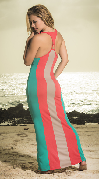 Bold Striped Maxi Dress