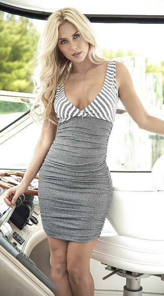 Grey Bodycon Sun Dress