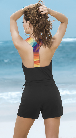 Multi-Colored Racerback Romper