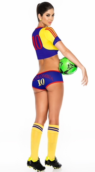 Colombia Soccer Player Costume