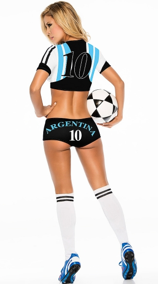 Argentina Soccer Player Costume