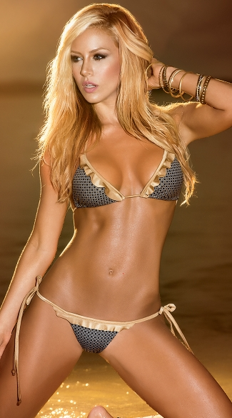 Bronze Beauty Two Piece Bikini, Bronze Bathing Suit