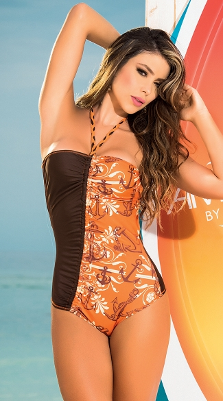 Anchors Away One Piece Swimsuit