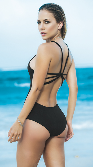 Strappy Racerback One Piece Swimsuit
