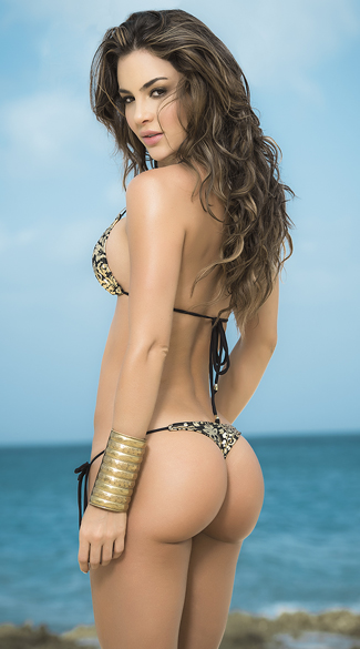 Black and Gold Luxe Bikini