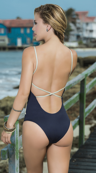 Naughty Nautical One Piece Swimsuit