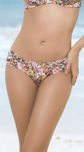 Ruched Hipster Bikini Bottoms