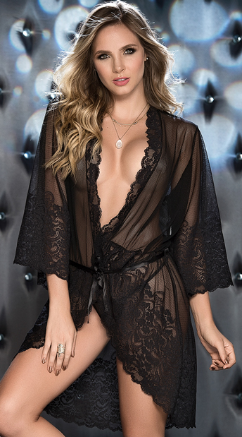 Twilight Romance Robe Set, mesh and lace robe set - Yandy.com