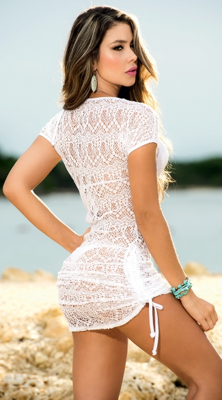 Cinch Side Beach Dress