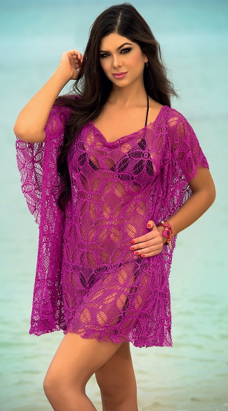 Flower Net Cover Up Dress