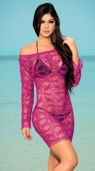 Floral Net Beach Dress