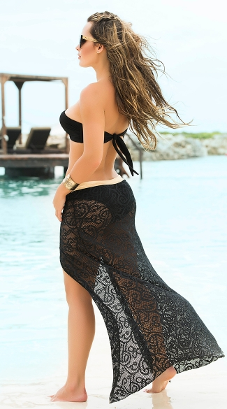 Fantasy Open Front Cover-Up Skirt