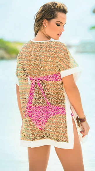 Netted Beach Cover-Up