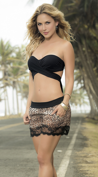 Cheetah and Lace Shorts